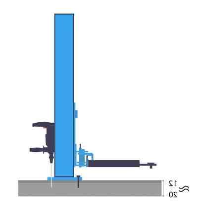 Comment fixer un pont elevateur ?