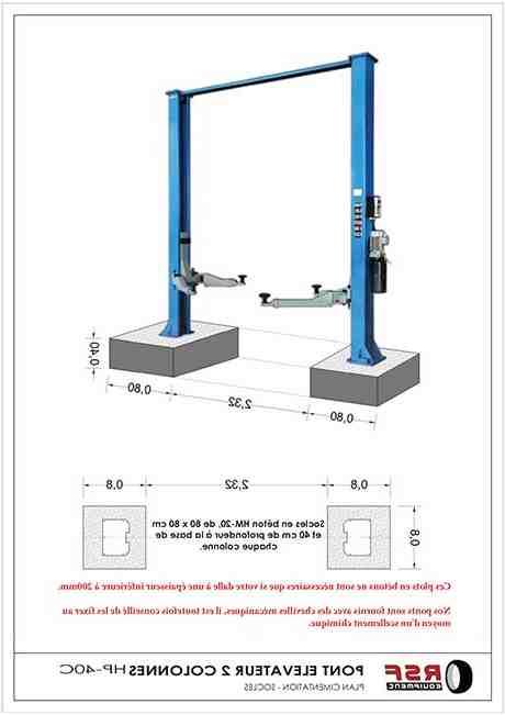 Quelle hauteur Faut-il pour un pont elevateur ?